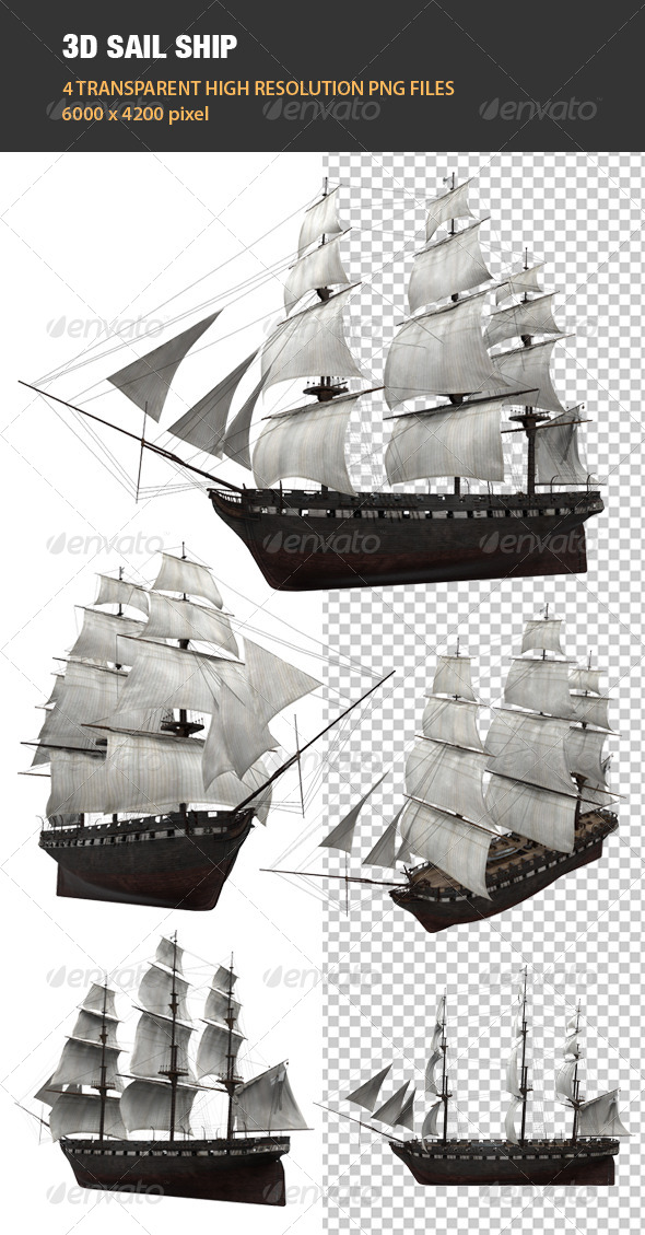 GraphicRiver 3D Sail Ship 6605760