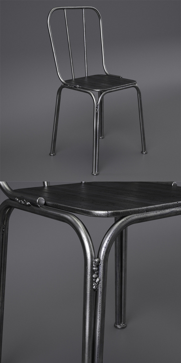 3DOcean Metal chair with welds Nordal 6605821