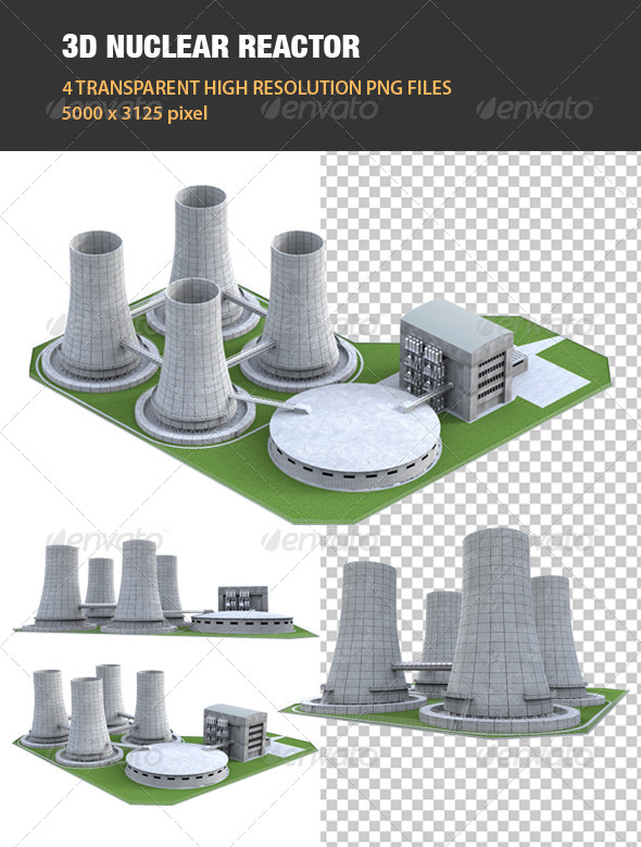 GraphicRiver 3D Nuclear Reactor 6605984