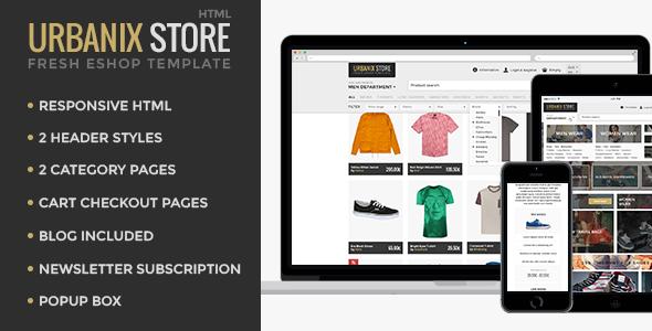 Urbanix - HTML Store Shop Template