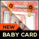 Baby Announcement Card - Knitting Joy - GraphicRiver Item for Sale