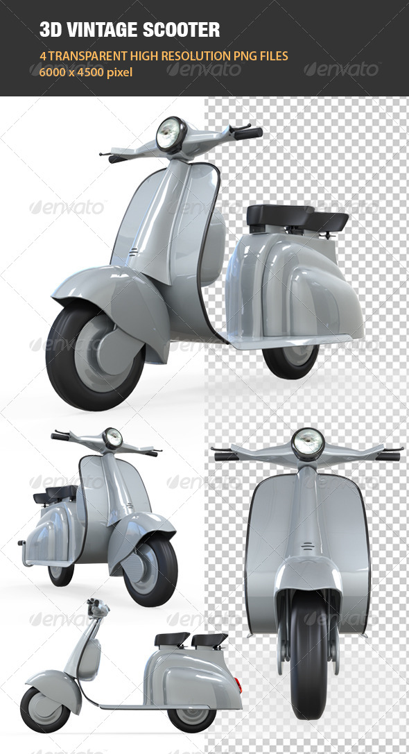 GraphicRiver 3D Vintage Scooter 6606431