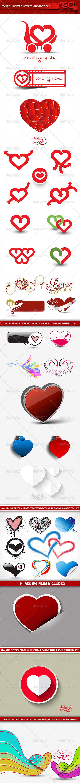 GraphicRiver Valentine s Day Heart Element 6606433