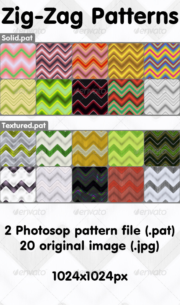 GraphicRiver Zig-Zag Patterns Pack 6599527