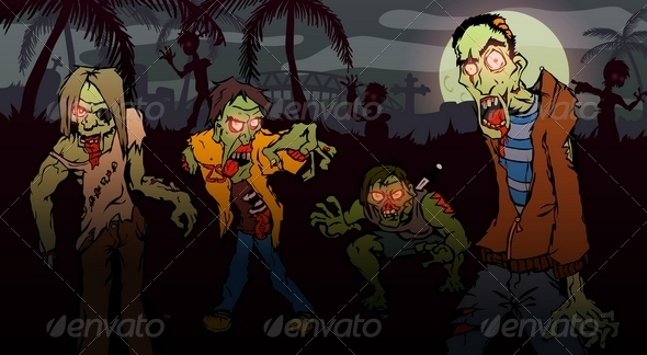 GraphicRiver Zombie Walk 6606529