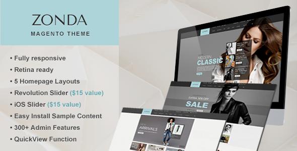 ThemeForest Zonda Premium Responsive Magento Theme 6602651