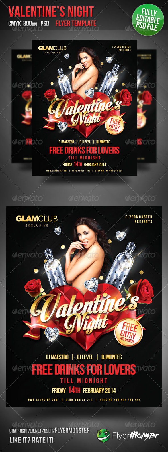 GraphicRiver Valentine s Night Flyer Template 6607125