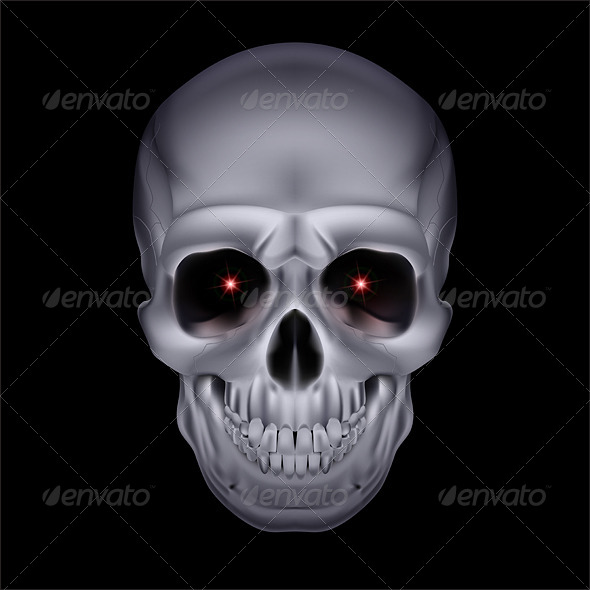 GraphicRiver Chrome Mystic Skull 6607145