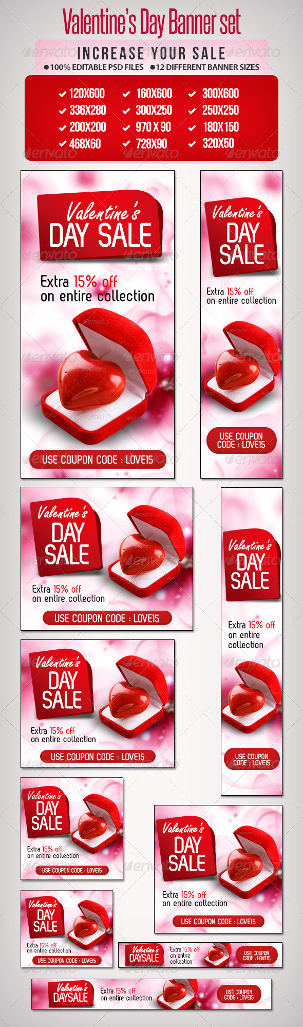 GraphicRiver Valentine s Day Banner Set 5 6607426