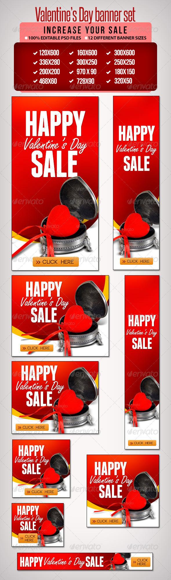 GraphicRiver Valentine s Day Banner Set 6 6607496
