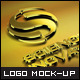 8 Styles Gold Effect Logo Mock-ups - GraphicRiver Item for Sale