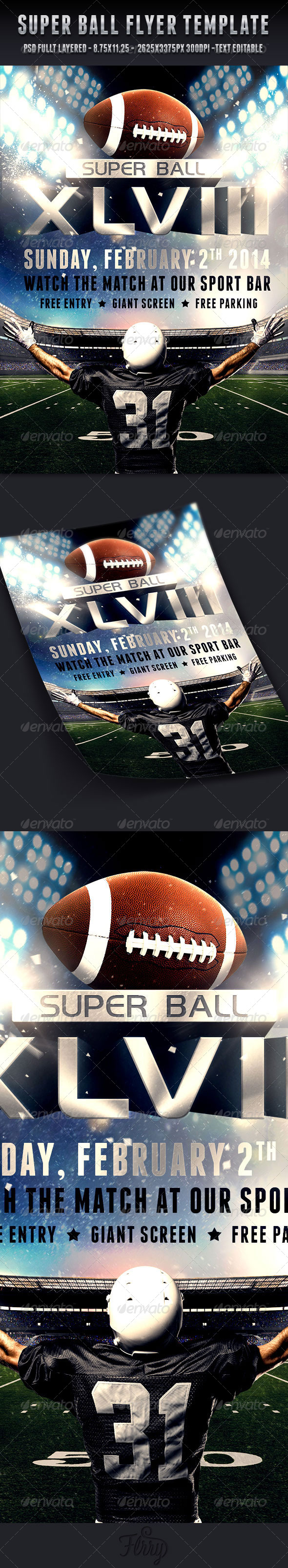 GraphicRiver Super Ball Football Flyer Template 6592409