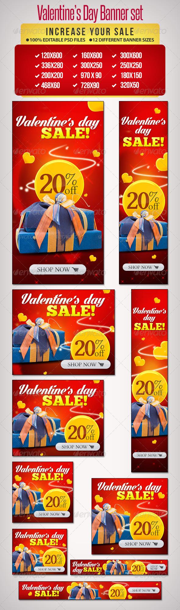 GraphicRiver Valentine s Day Banner Set 8 6607823