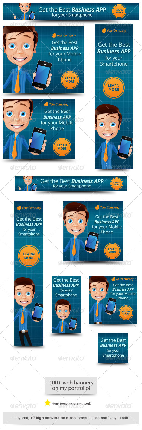 GraphicRiver Business App Web Banner 6607901