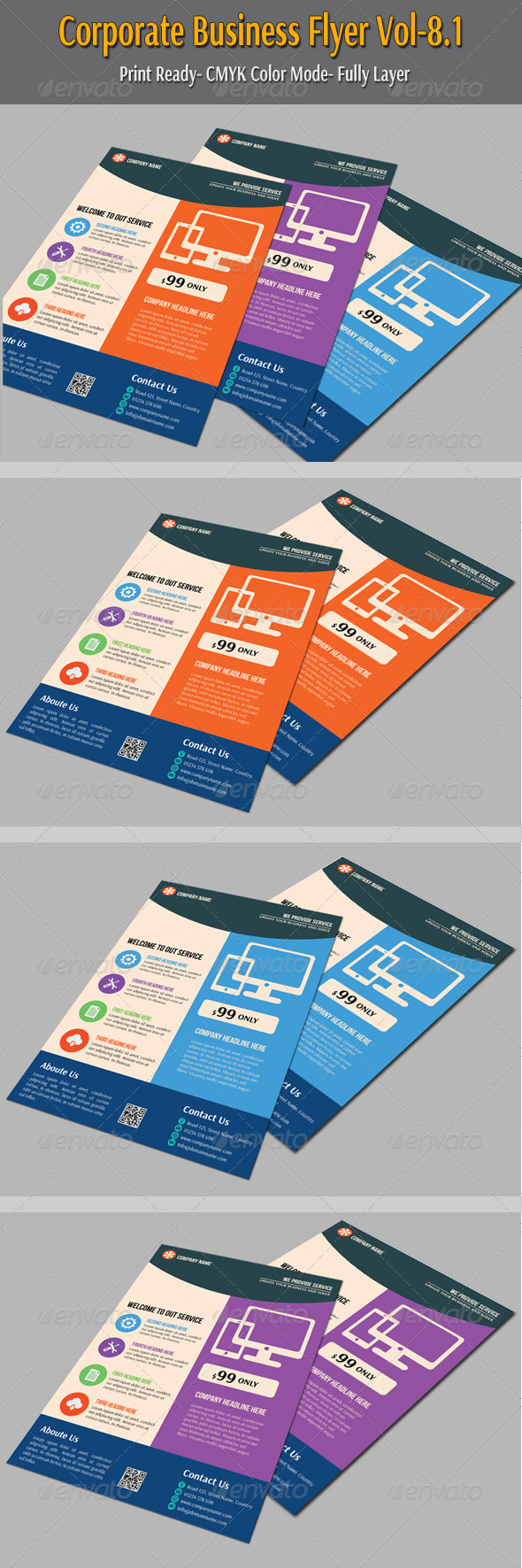 GraphicRiver Corporate Business Flyer Vol-8.1 6607916
