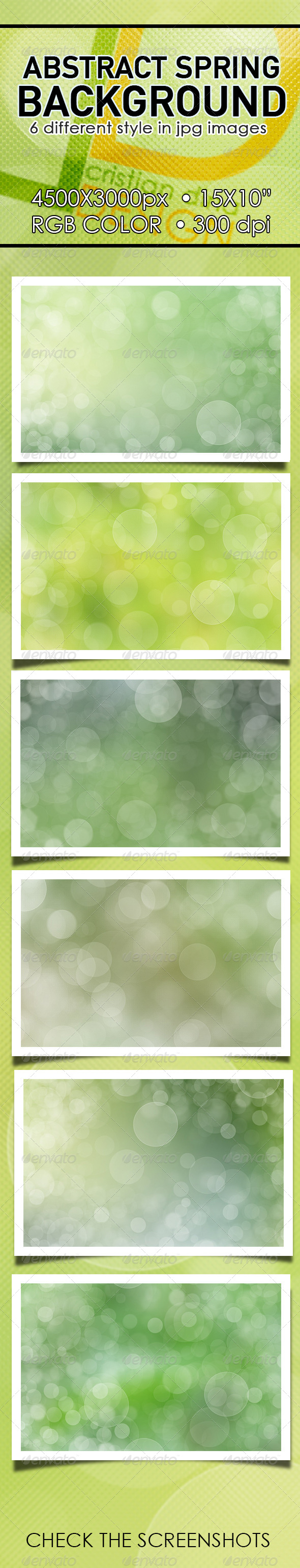 GraphicRiver Abstract Spring Background Pack I 6607952
