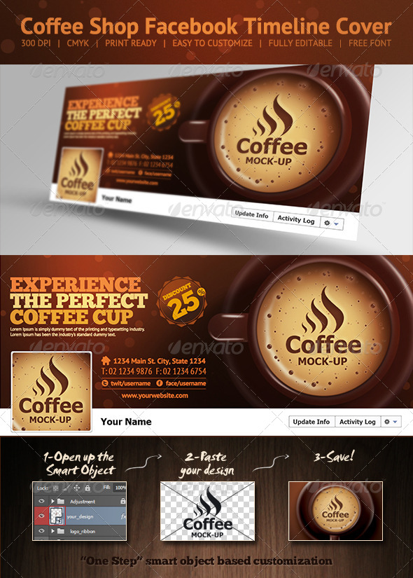 GraphicRiver Coffee Shop Facebook Timeline Cover 6608152