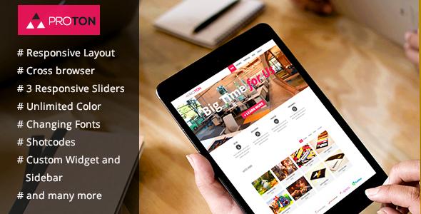 Proton - WordPress Theme for Corporate, Business - Business Corporate