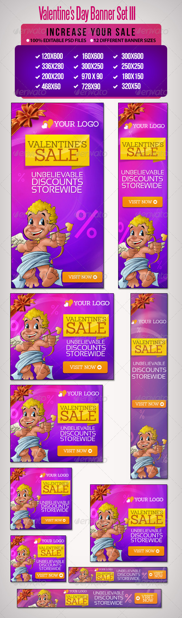 GraphicRiver Valentine s Day Banner Set 3 6608167