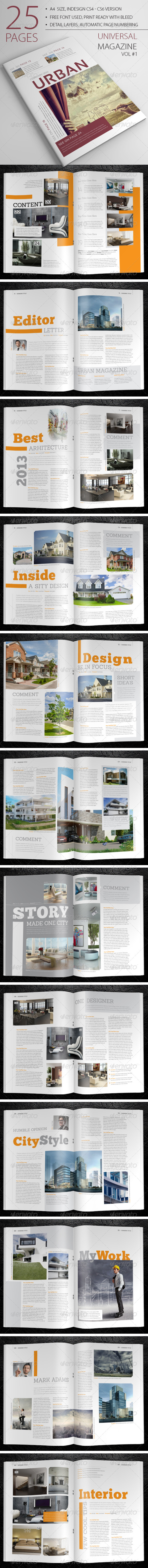 GraphicRiver 25 Pages Universal Magazine Vol2 6608196