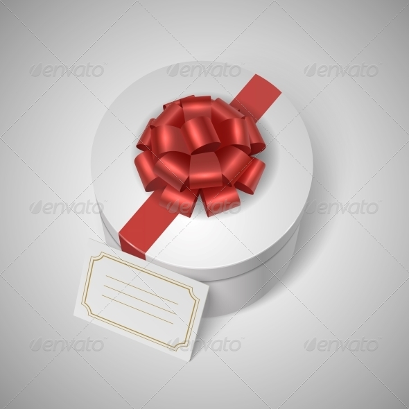 GraphicRiver Gift Box with Ribbon and Card 6608204