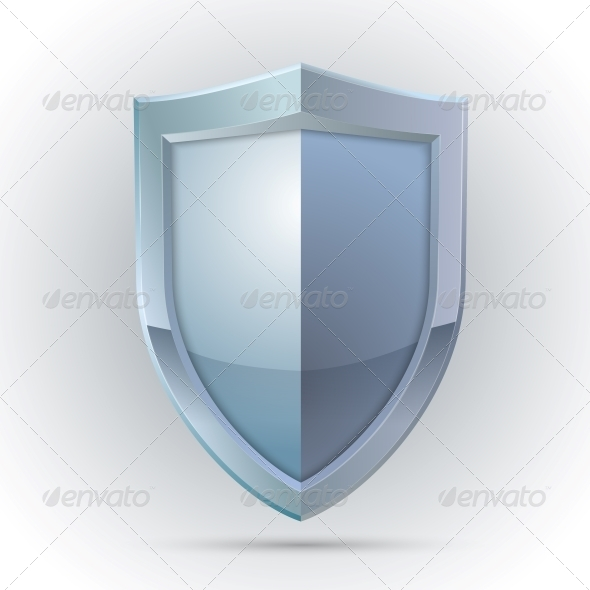 GraphicRiver Blank Shield Protection Emblem 6608220