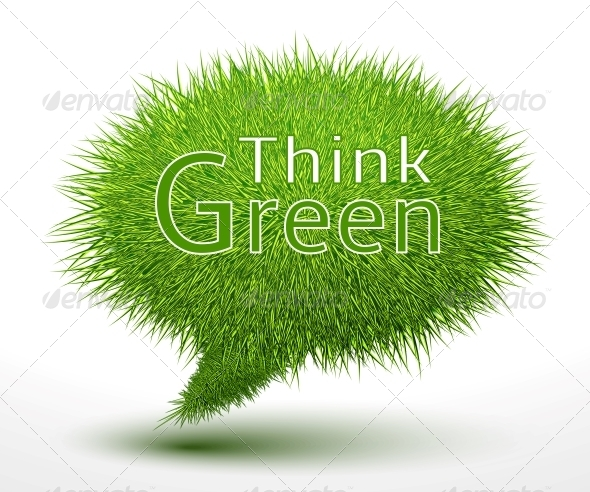 GraphicRiver Think Green Concept on Grass 6608249