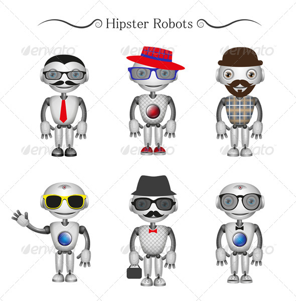 GraphicRiver Hipster Robots 6599896