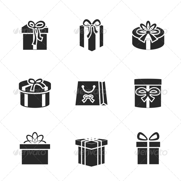 GraphicRiver Gift Boxes Icons Set 6608435