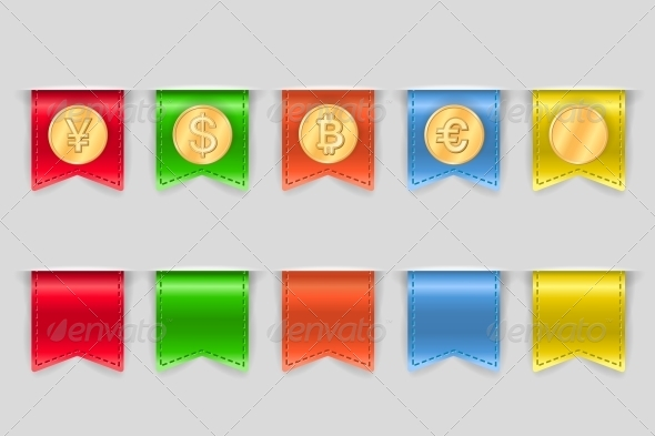 GraphicRiver Collection of Coins for Finance 6608438