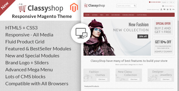 Classy Shop - Magento Responsive Template - Fashion Magento