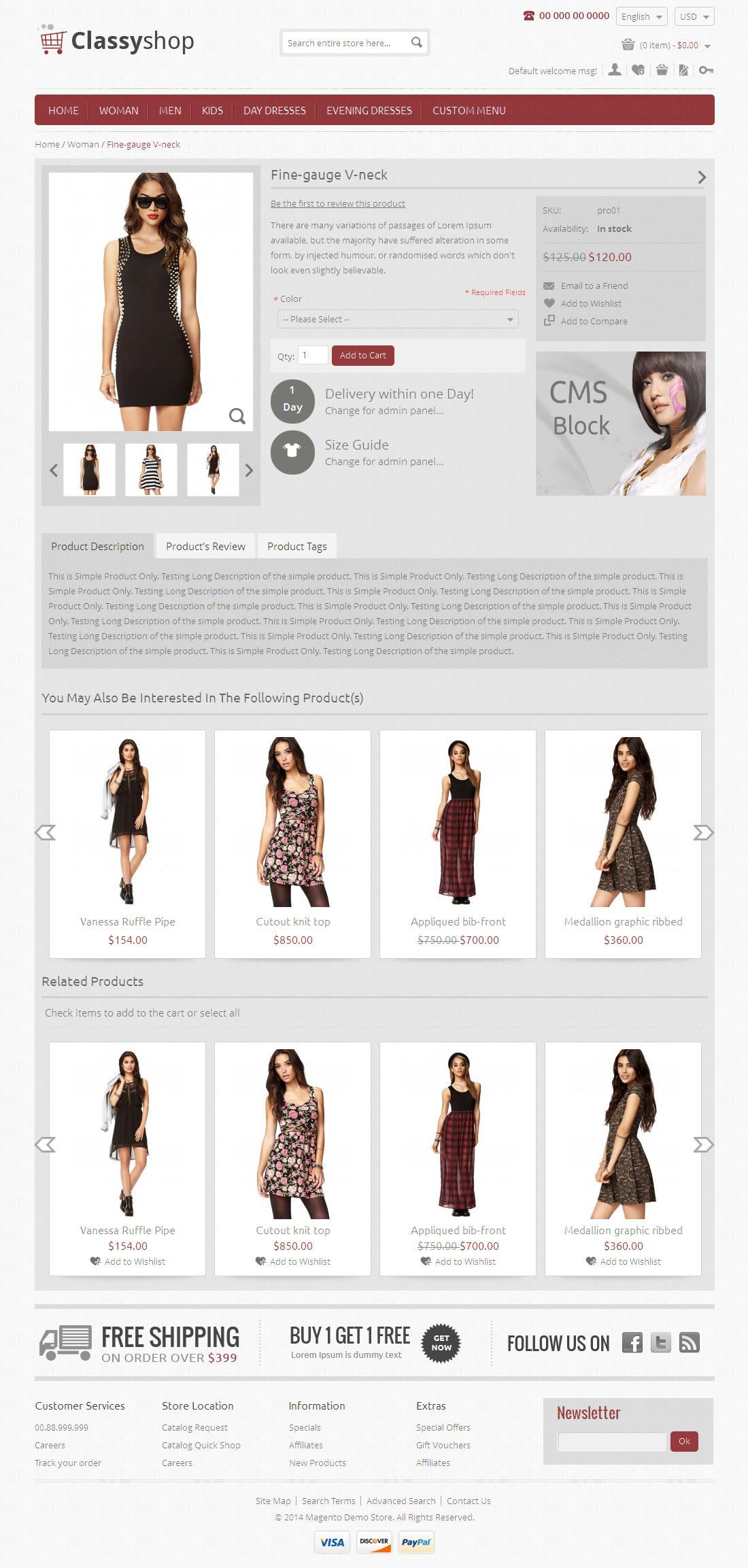 Classy Shop - Magento Responsive Template