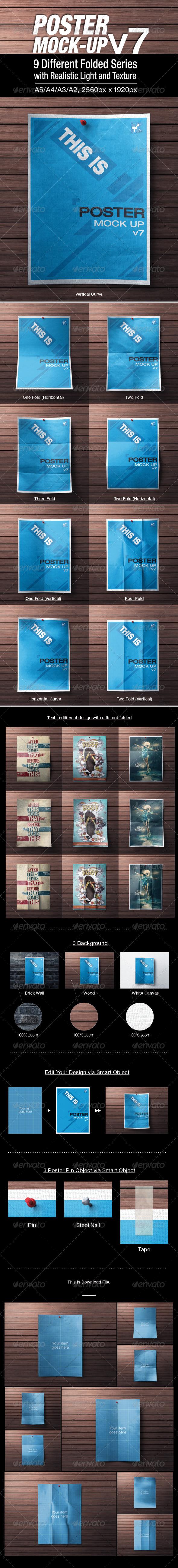 GraphicRiver Poster Mock-up v7 6608446