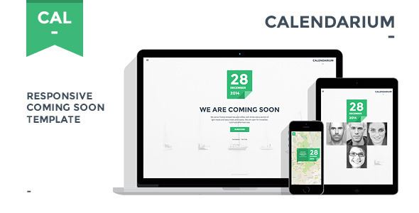 ThemeForest Calendarium Responsive Coming Soon Template 6608451