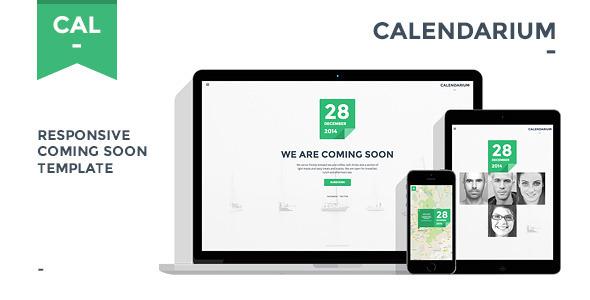 Calendarium – Responsive Coming Soon Template (Under Construction) images