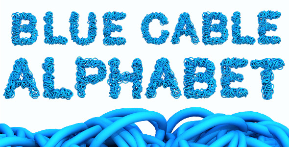 Blue Cable Alphabet