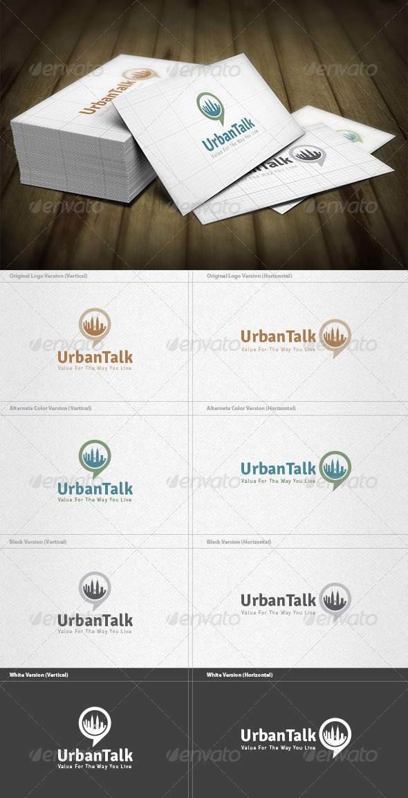 GraphicRiver Urban Talk Logo 6608464