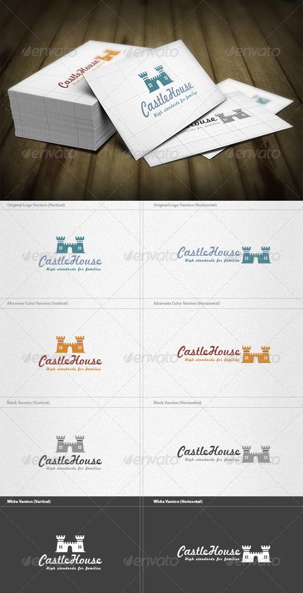 GraphicRiver Castle House Logo 6608612