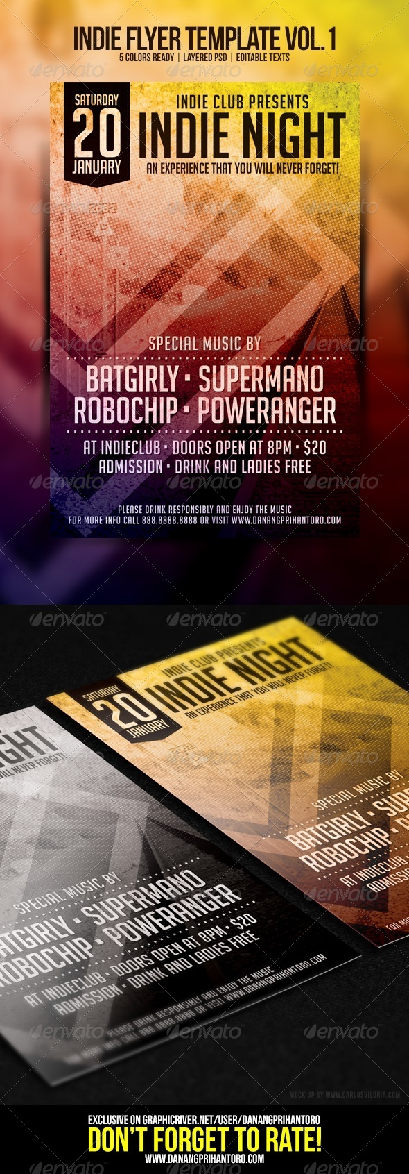 GraphicRiver Indie Flyer Template Vol 1 6608632