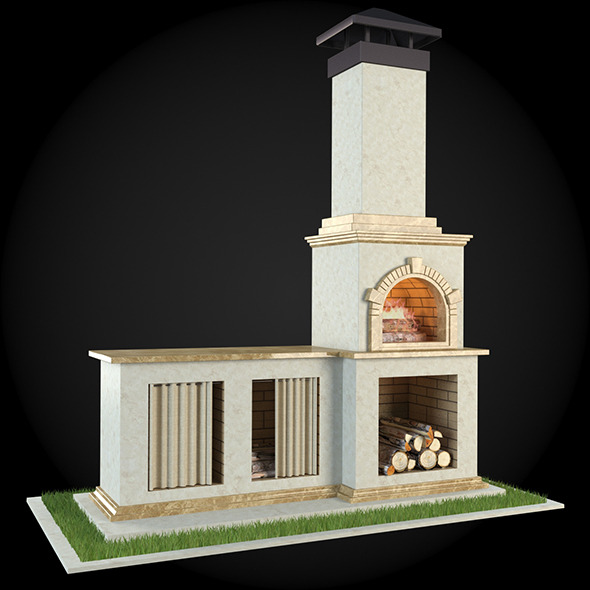 3DOcean Garden Fireplace 001 6608668
