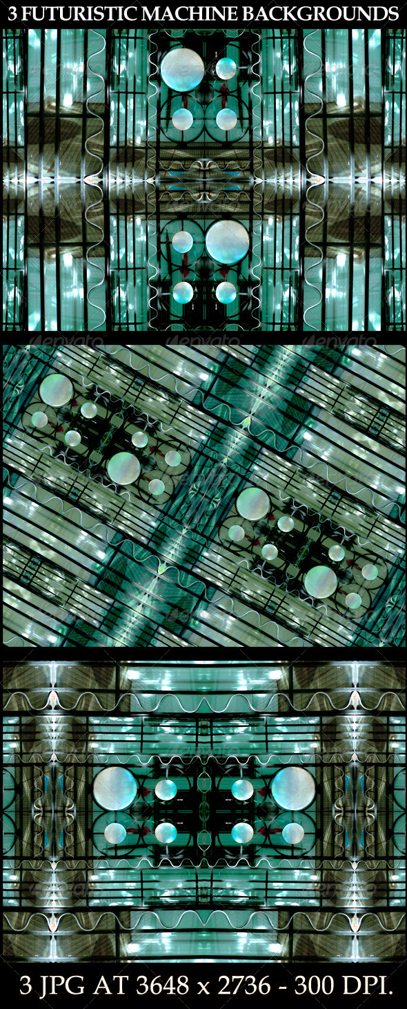 GraphicRiver 3 Futuristic Machine Backgrounds 6608697
