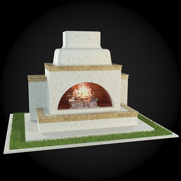 Garden Fireplace 002 - 3DOcean Item for Sale