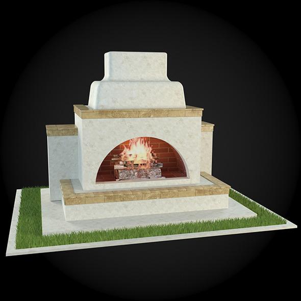 3DOcean Garden Fireplace 002 6608700