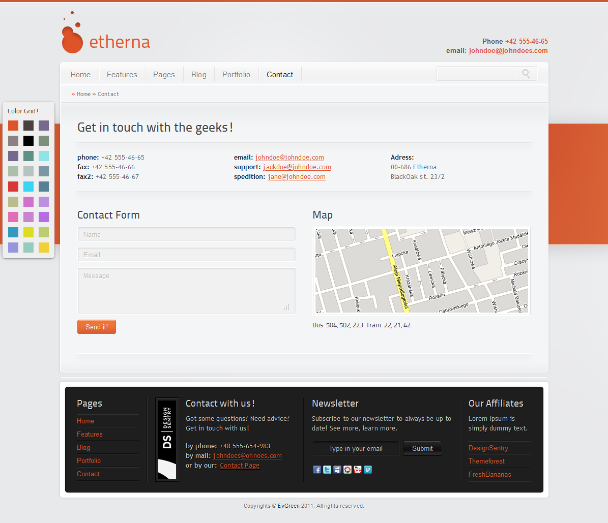 Etherna - powerful and flexible WordPress theme