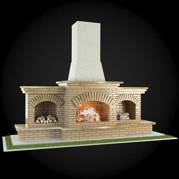 Garden Fireplace 003 - 3DOcean Item for Sale