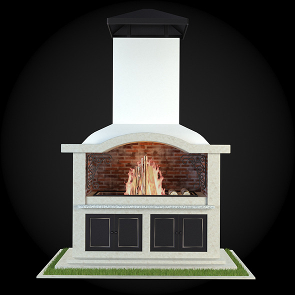 Garden Fireplace 004 - 3DOcean Item for Sale