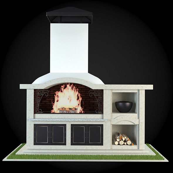 Garden Fireplace 005 - 3DOcean Item for Sale