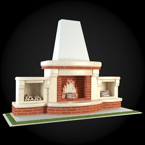 Garden Fireplace 006 - 3DOcean Item for Sale