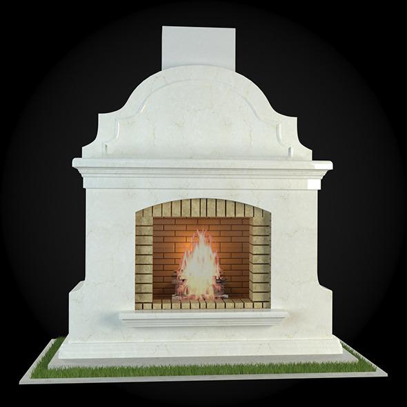 3DOcean Garden Fireplace 007 6609074