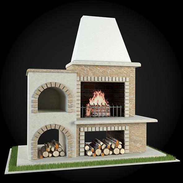 3DOcean Garden Fireplace 010 6609248
